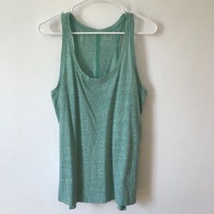 LOFT Tops - Large ANN TAYLOR LOFT Green Tank Top Cotton Shirt